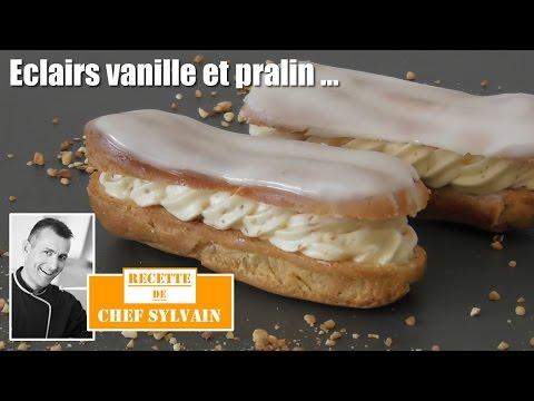 Éclairs-vanille-et-pralin---recette-par-chef-sylvain