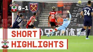 90-SECOND HIGHLIGHTS   Southampton 0-1 West Ham United   Premier League