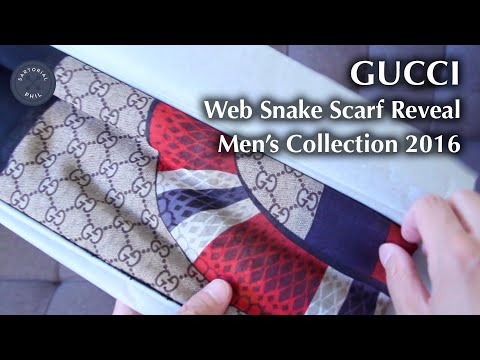Gucci Web Snake Scarf For Mens Collection
