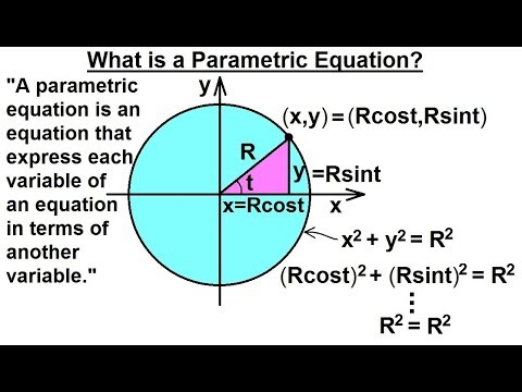 Calculus 2: Parametric Equations (1 of 20) What is a Parametric Equation?