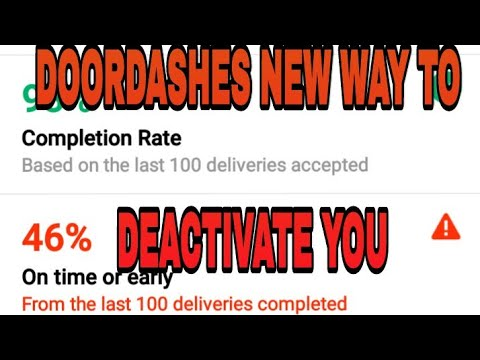 Doordash can now deactivate you for your delivery times