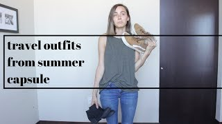 Travel Outfits From Summer Capsule | 2017