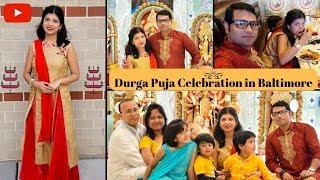 Durga Puja Celebration in Baltimore || Indian Buffet Lunch || Bangla Vlog || Indian Vlogger || HD