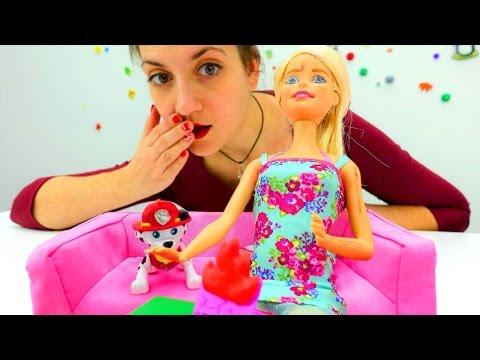 Познавательные видео для детей: куколка Барби тушит пожар. Пожарная безопасность в игровой форме