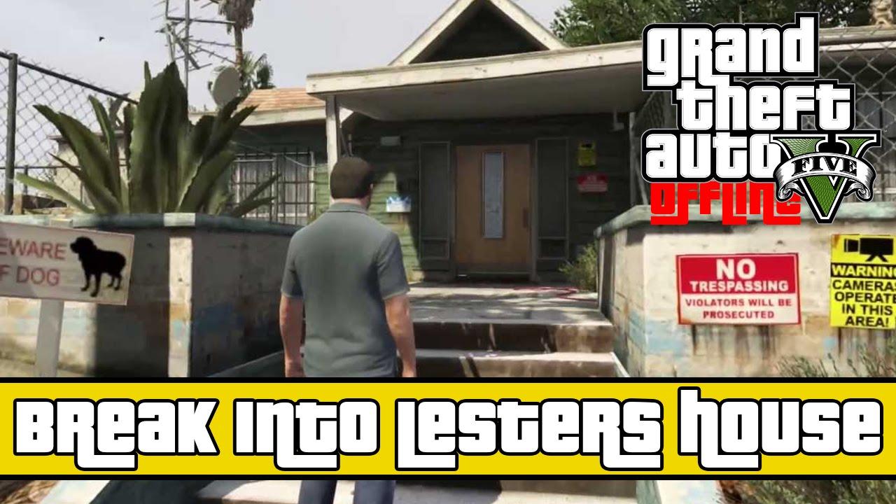 ★ GTA 5 - How To Get Inside Lester's House Offline! ( Secret Easter Egg  Spots )