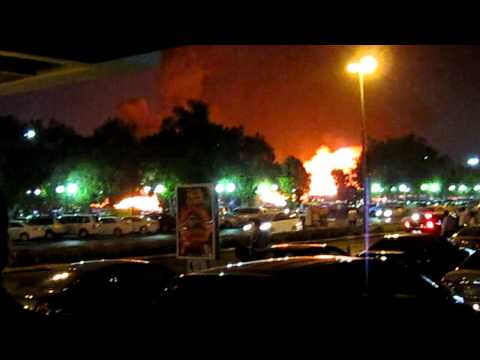 Big maritime fire in Deira Creek Dubai