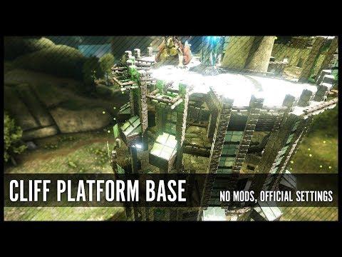Aberration PvE Cliff Platform Base : ARK