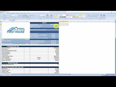 House Flipping Spreadsheet - Free Download
