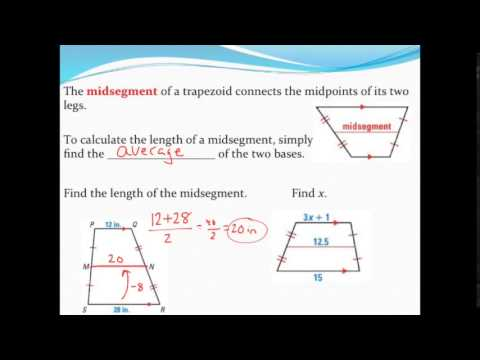 Finding the midsegment of a trapezoid youtube finding the midsegment of a trapezoid ccuart Image collections