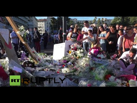 LIVE from Promenade des Anglais in Nice day after deadly attack