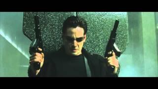 Матрица (1999) - Перестрелка в лобби [1080p]