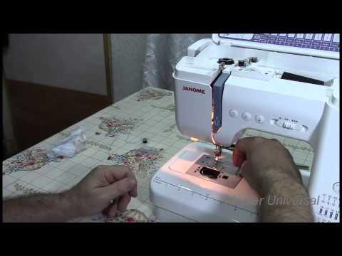 Чистка челнока и замена лампочки в швейной машинке Janome QC2325.Часть14.Видео №21.