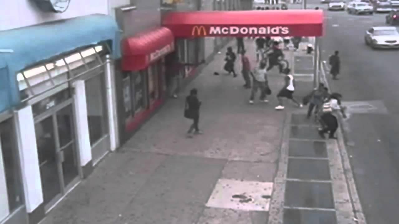 MCDONALD'S SHOOTING: Shocking scenes as man is gunned down ...