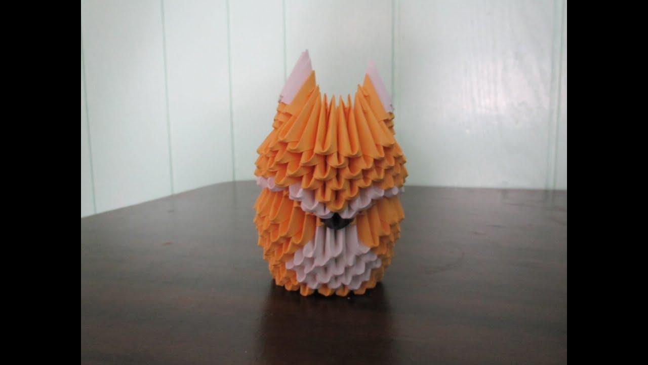 3d origami diagram animals murray lawn tractor wiring fox 19 stromoeko de how to make a part 1 youtube rh com dollar face