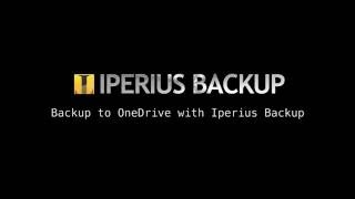 Backup to OneDrive with Iperius Backup