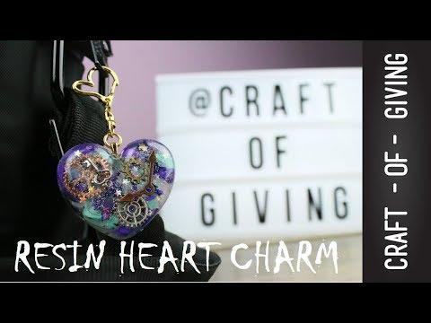 DIY UV Resin Heart Charm  | Craft of Giving