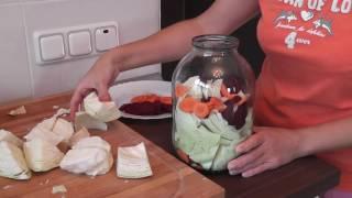 КАПУСТА маринованная со свеклой и морковью. Я готовлю.