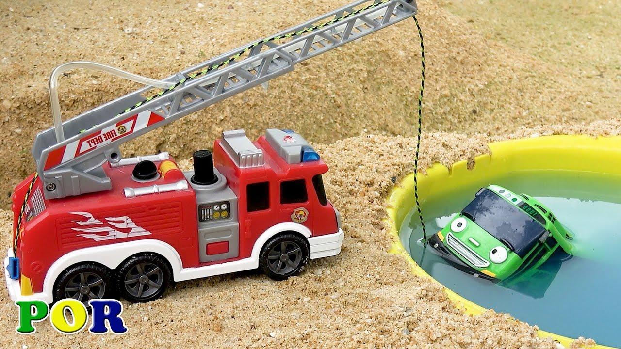 Tayo O Pequeno Autocarro - Escavadora, Caminhão de bombeiros, Ambulância para Crianças