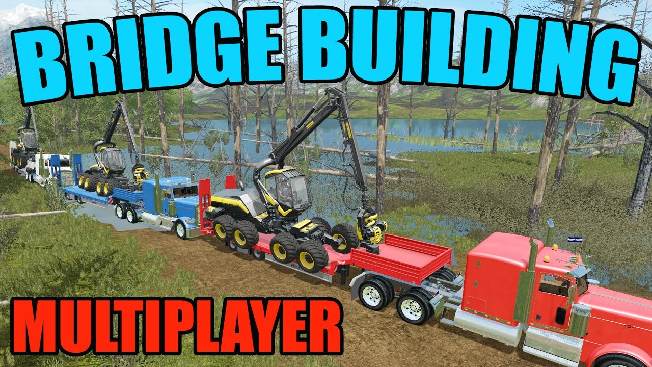 FARMING SIMULATOR 2017 | BRIDGE CONSTRUCTION | MULTIPLAYER | WOODCHIPS #1