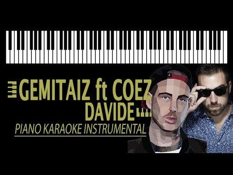 GEMITAIZ ft. COEZ - Davide KARAOKE (Piano Instrumental)