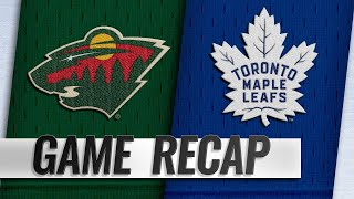 Parise's Goal In 3rd Lifts Wild Past Maple Leafs