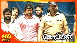 vuclip Komban Tamil Movie | Scenes | IM Vijayan plans to kill  Rajkiran | Karthi