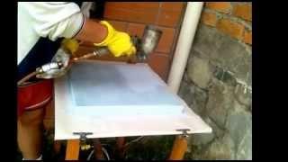 Preparacion de espuma poliestireno para metalizar o cromar