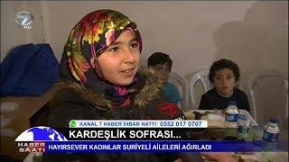 Hayırsever Kadınlar Suriyeli Aileleri Ağırladı.