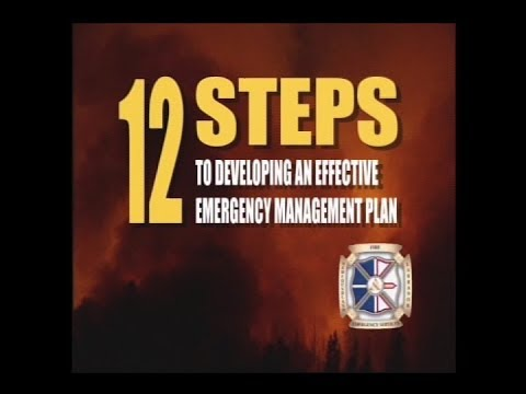 12 Steps to developing an effective emergency management plan