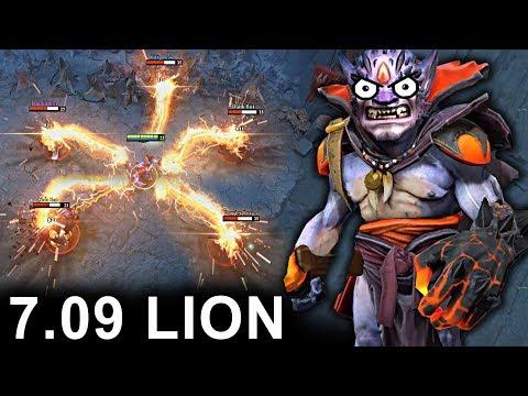 NEW LION PATCH 7.09 DOTA 2 NEW META GAMEPLAY #24 (CARRY LION)
