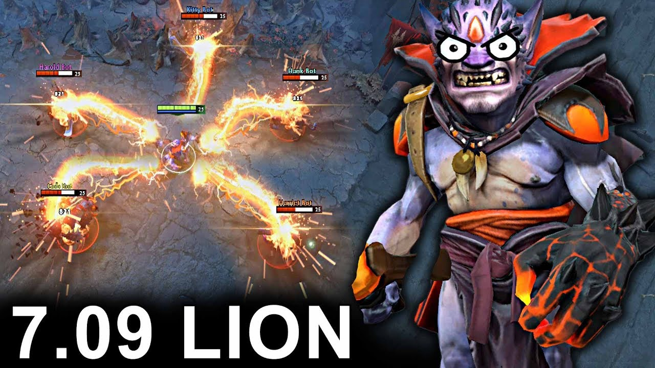 NEW LION PATCH 7.09 DOTA 2 NEW META GAMEPLAY #24 (CARRY LION)