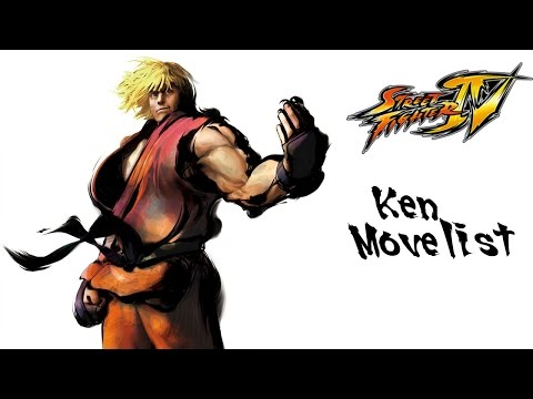 Street Fighter IV - Ken Move List