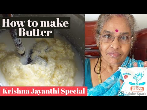 Homemade butter and ghee from curd