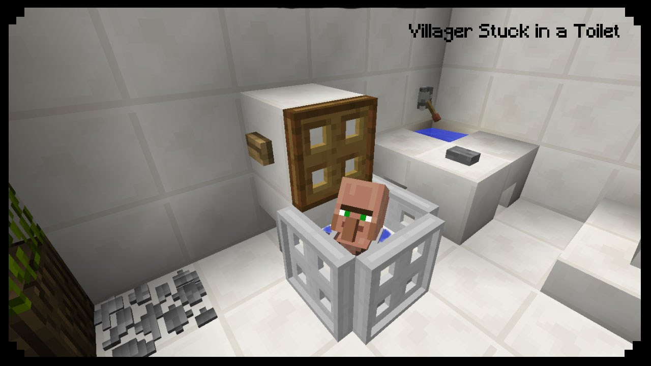 Minecraft How To Make A Villager Stuck In A Toilet YouTube