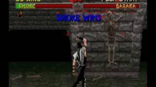 Mortal Kombat II (Arcade) - Play as Smoke!