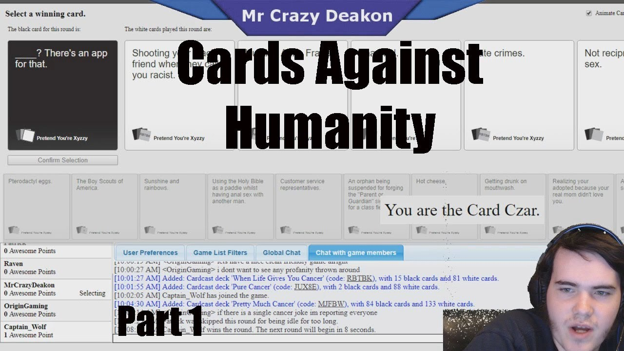 Image of: Ladd Cards Against Humanity Hunting Anne Frank With Patrick Takashi Wolf And Others Youtube Cards Against Humanity Hunting Anne Frank With Patrick Takashi Wolf