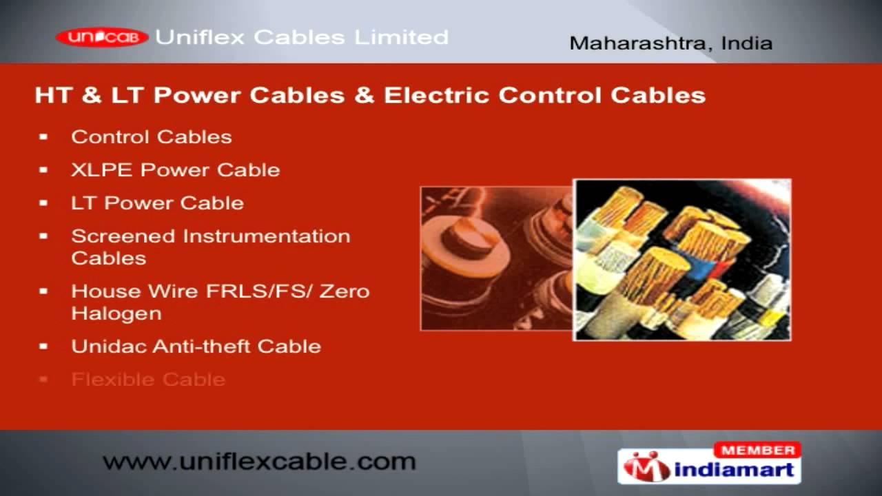 Beautiful HT U0026 LT Power U0026 Electric Control Cables By Uniflex Cables Limited, Mumbai