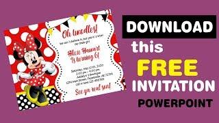free editable minnie mouse birthday invitations