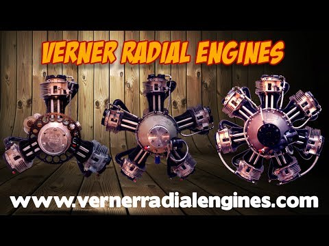 Verner Radial Engines, Verner Scarlett 3VW, Scarlett 5 Series, Scarlett 7  Series, radial engines
