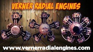 Verner Radial Engines, Verner Scarlett 3VW, Scarlett 5 Series, Scarlett 7 Series, radial engines.