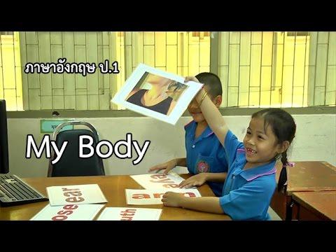 ภาษาอังกฤษ ป.1 My Body ครูจันทร์ดี ทองสุขดี
