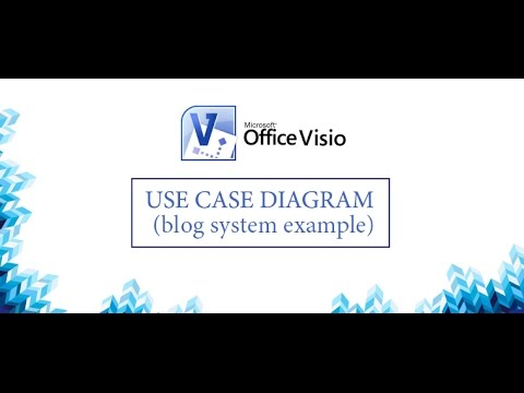 How to create use case diagram with VISIO (example with blog system) | UML