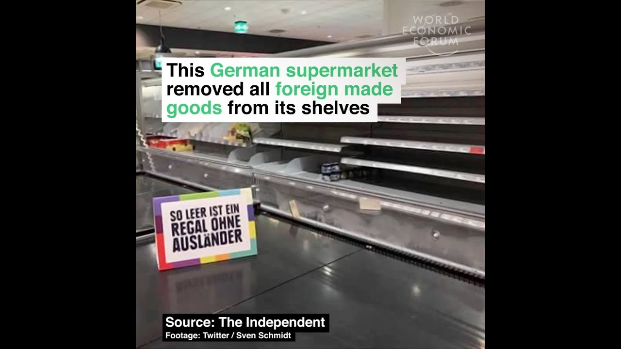 This German supermarket removed all foreign made goods from its shelves