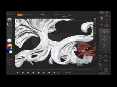 Creating organic Environment with Zbrush, Keyshot and Photoshop