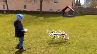 Rinat play with drone and prevents the doll to sleep