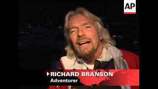 Adventurer Sir Richard Branson is sailing toward another record as he tries to go from New York to E