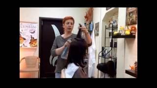 Укладка волос феном . Шаг 3: Придание  объема тонким волосам