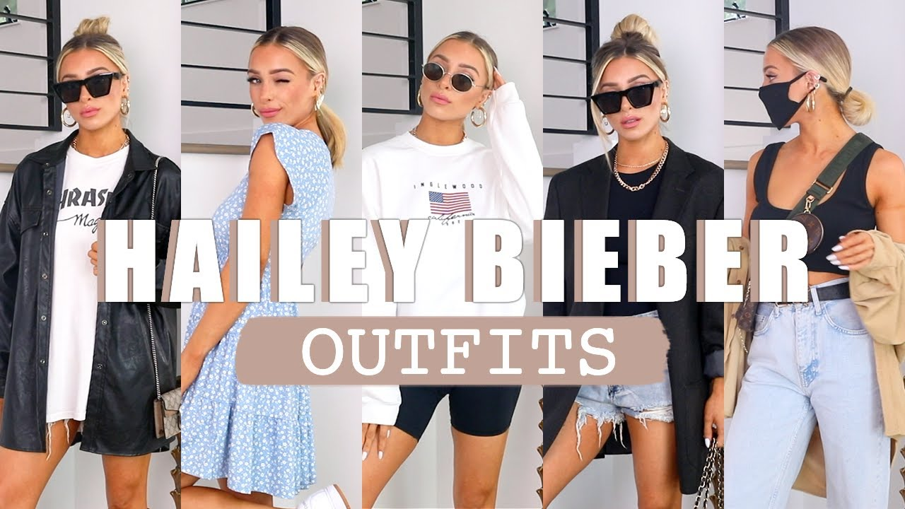RECREATING HAILEY BIEBER OUTFITS   DELANEY CHILDS