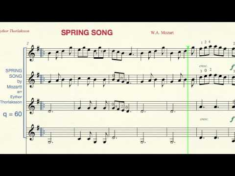 Spring Song by Mozart - 60 bpm