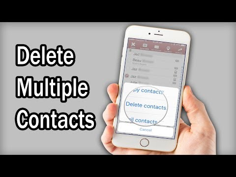 Learn how to delete one or more contacts from your iPhone or other iOS devices like iPad or iPod tou.